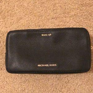 EUC Michael Kors black make up bag